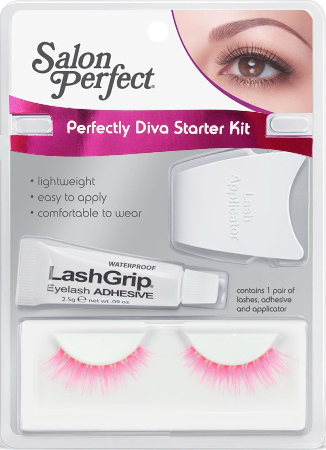 Kit Salon Perfect Diva Starter 47667 Cilios e cola