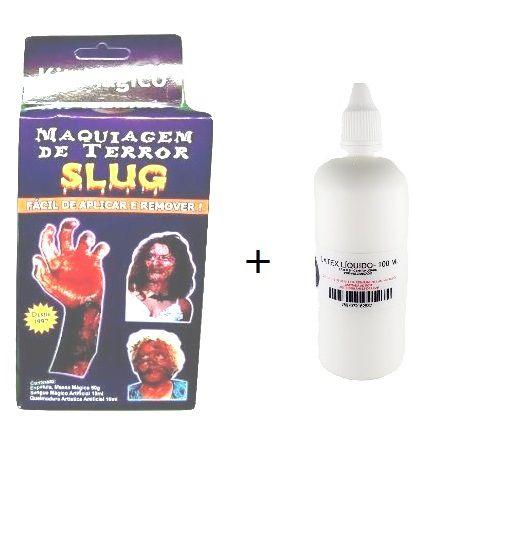 kit slug maquiagem de terror slug e latex 100 ml