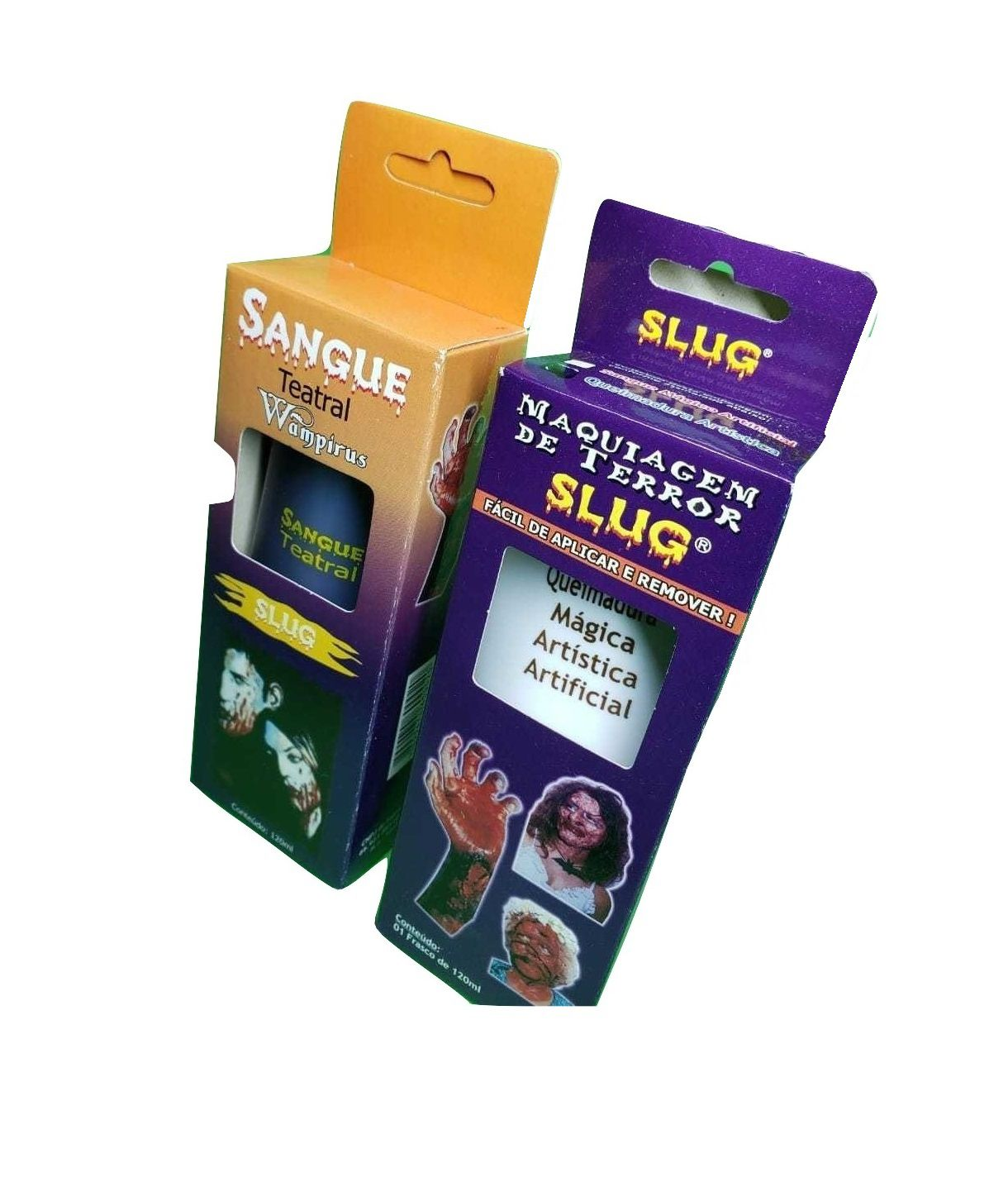 Kit slug queimadura magica + Sangue arficial comestivel 120 ml