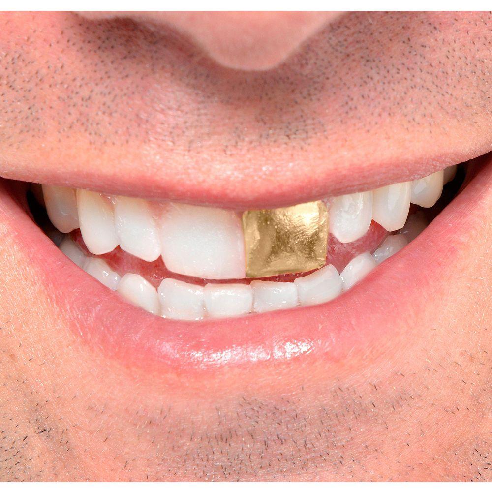 Kryolan Tooth Enamel Esmalte de dente dourado 12 ml