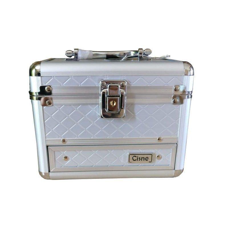 Maleta Maquiagem e acessórios Cisne (CSN-5140) prata