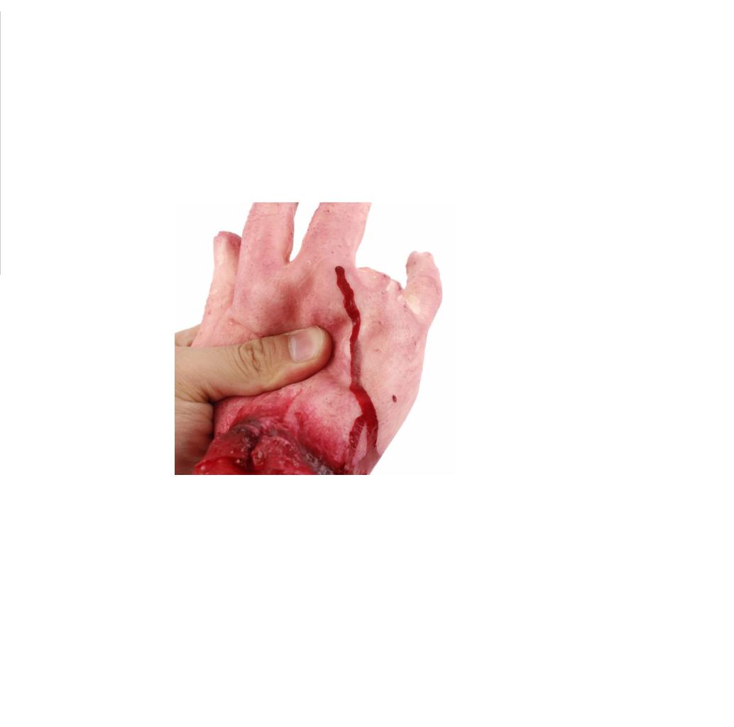 Mão Falsa zumbi c/ dedo amputado assustador Slug- Unidade