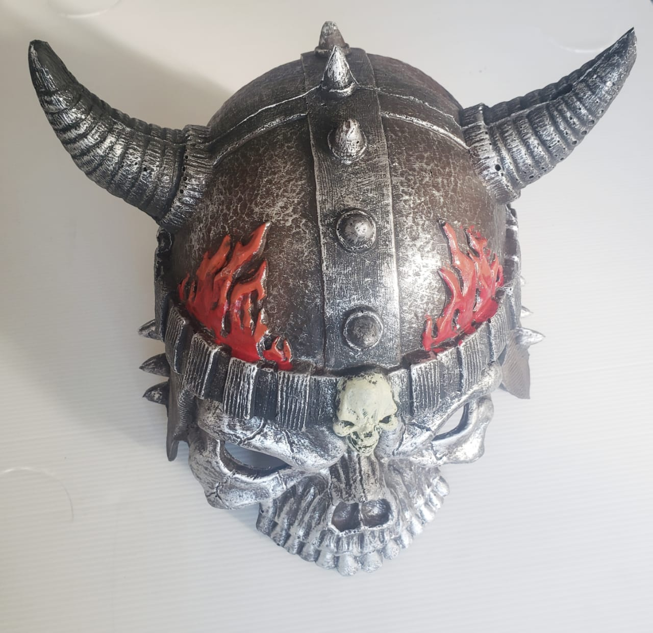 Mascara capacete caveira fogo fantasia cosplay