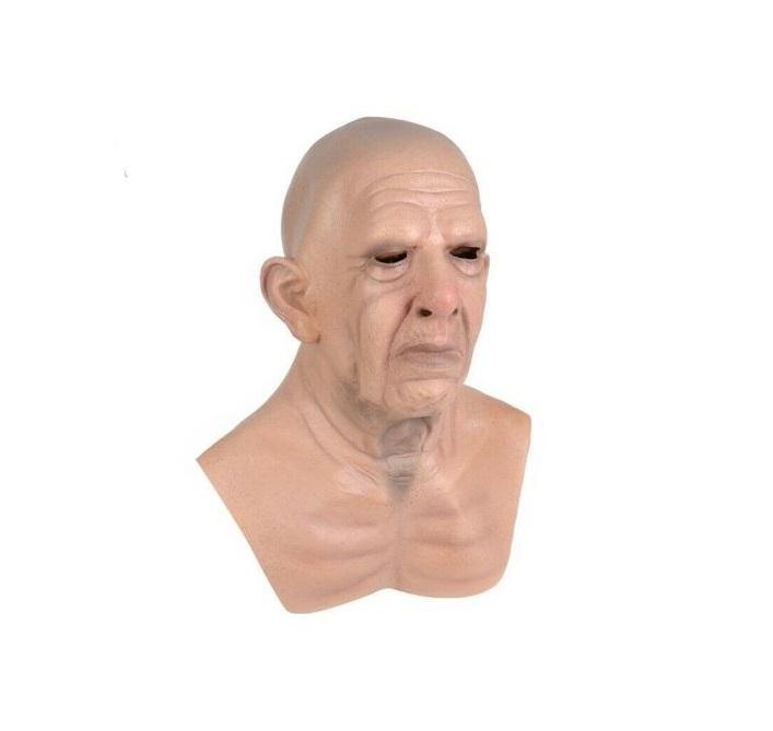 Máscara De Látex adulto velho senhor idoso Careca Realista