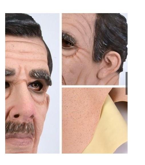 Máscara De Látex adulto velho senhor idoso Realista