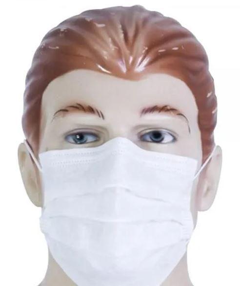 Mascara descartável tnt com elástico 12 unidades