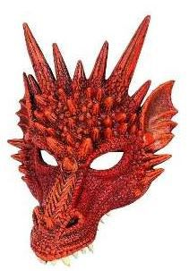 Mascara dragão vermelho game off thrones fantasia
