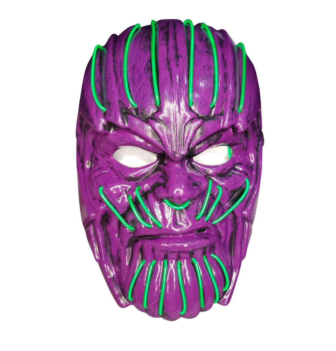 Máscara Thanos Led Neon brilha no escuro Halloween Cosplay