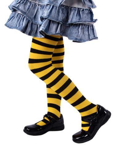 Meia calça amarela com preto filme como eu era antes de você- infantil