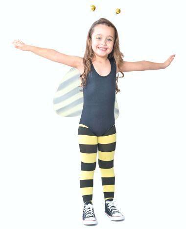 Meia calça infantil estampa abelhinha