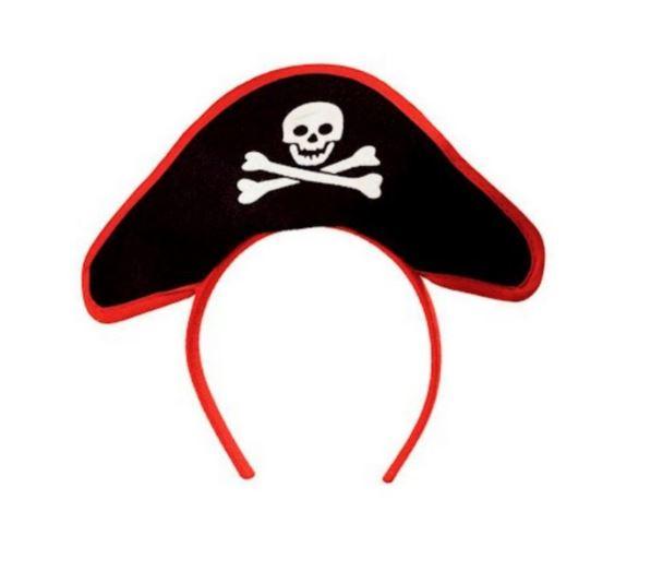 Mini Chapéu Tiara Pirata Fantasia, Cosplay e Festa