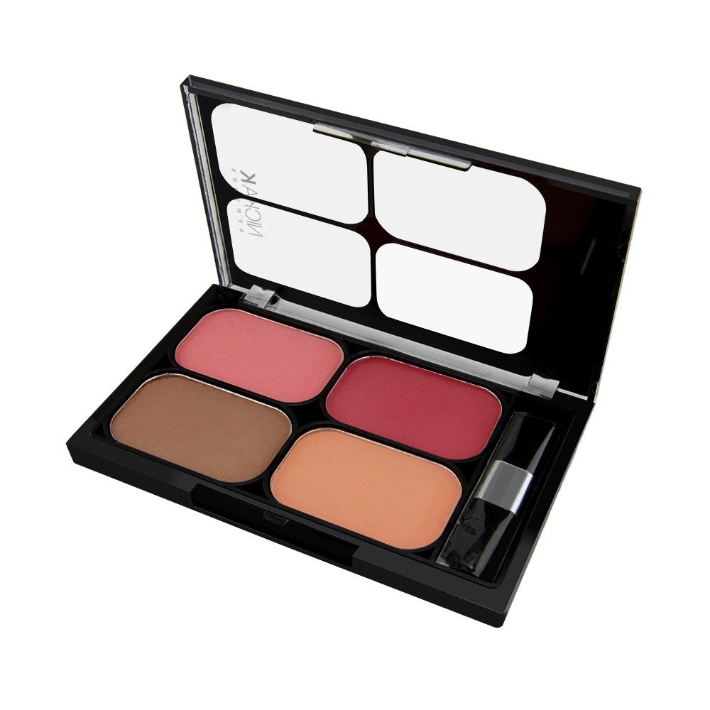 Paleta de blush matte 4 cores Nicka New York CBM03