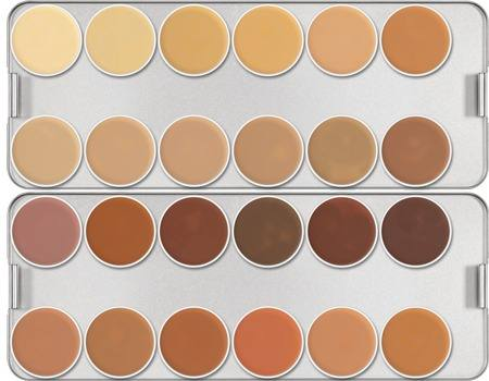 Paleta dermacolor 24 cores Kryolan Ref: K
