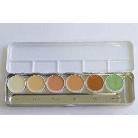 Paleta dermacolor 6 cores Kryolan Ref: BP 4