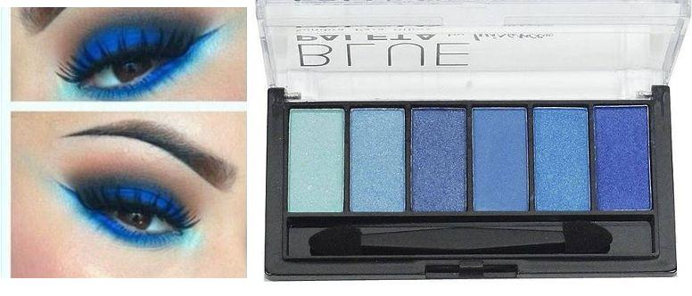 Paleta Sombra Blue Luisance 6 Cores