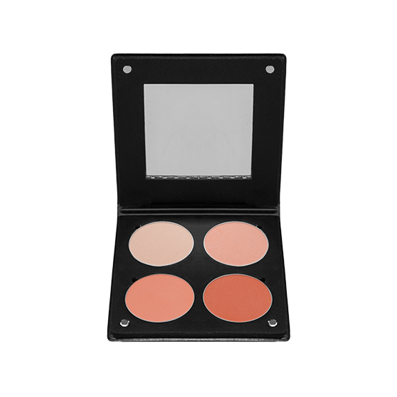 Palette 4 Blush 3D Saumon Atelier Paris