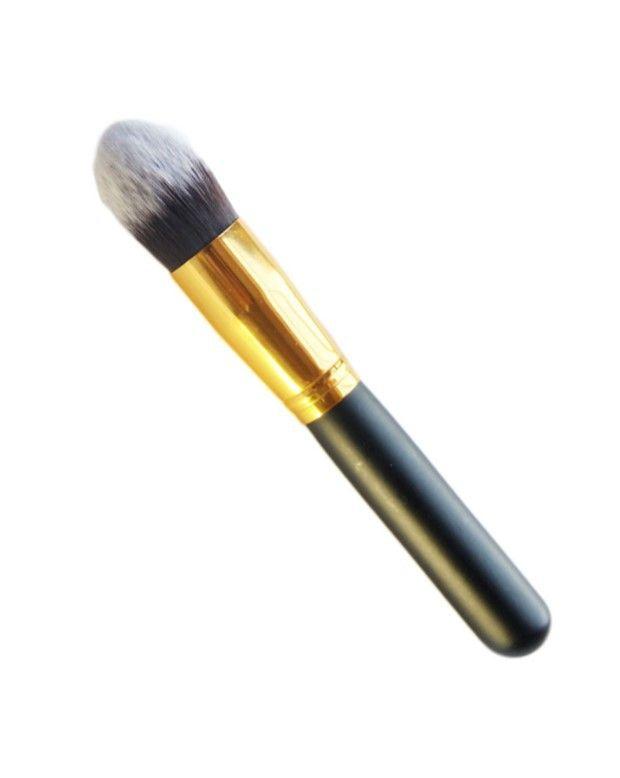 Pincel Hd Kabuki Cônico para contorno, corretivo e Base dourado