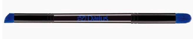 Pincel Maquiagem Double Flat Angled precisao Dailus 09
