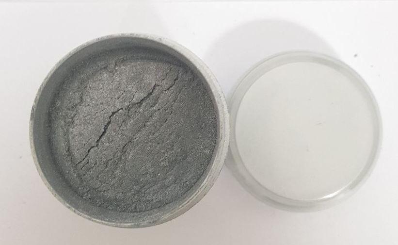 Pó de Maquiagem Prata Cintilante super pigmentado (sombra) 16gr