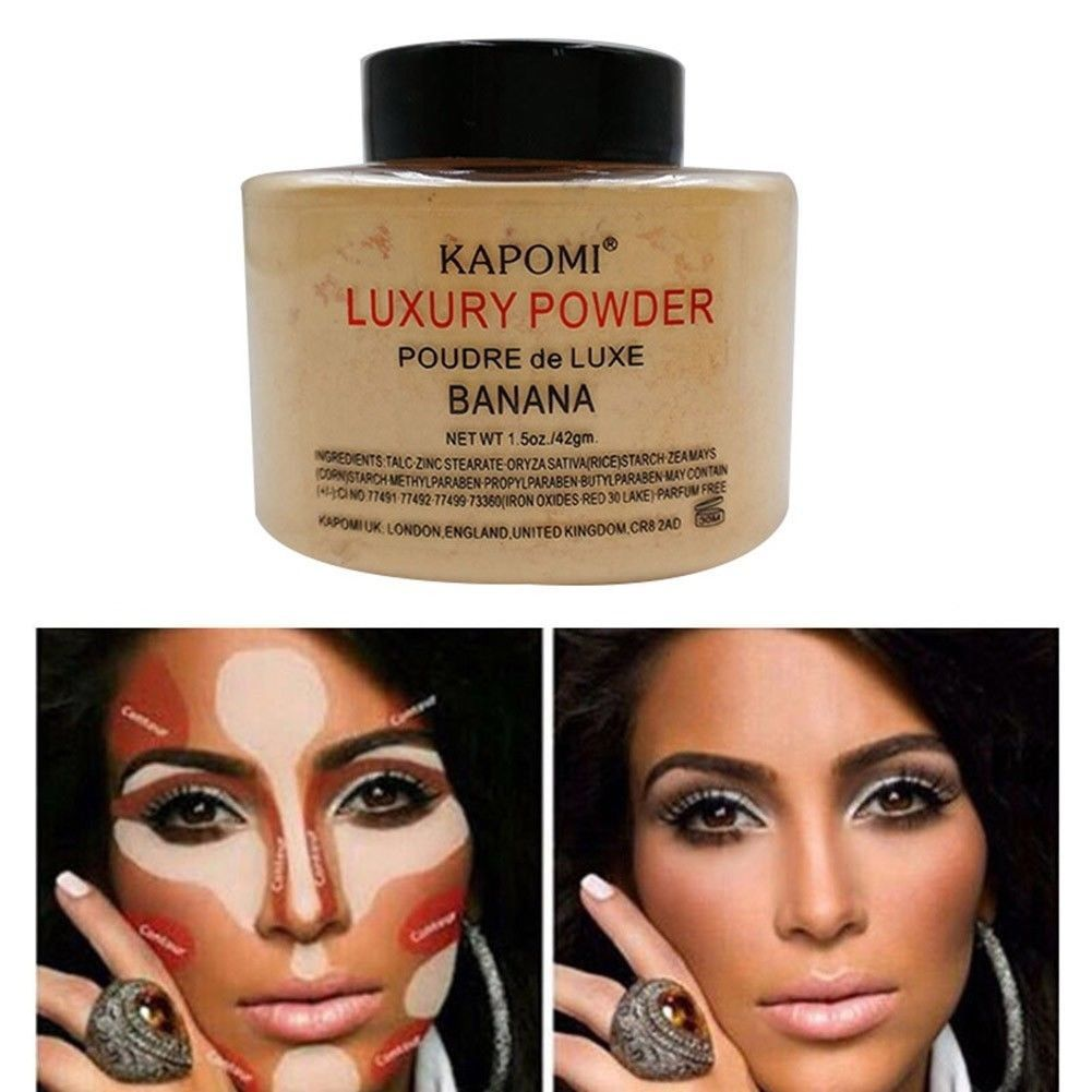Pó Iluminador Kapomi Luxury powder banana 42gr