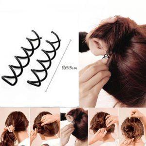 Prendedor de coque em espiral ( unidade)- hair pin