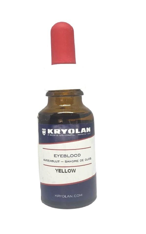 Sangue para olhos amarelo artificial Kryolan 20 ml