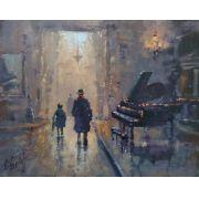 """"""" AULA DE PIANO """"  40x50"""