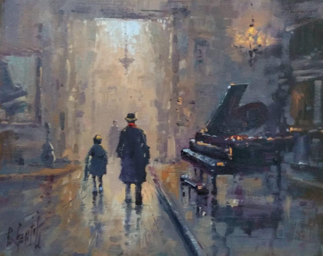 """ AULA DE PIANO ""  40x50  - Loja C Gentil"