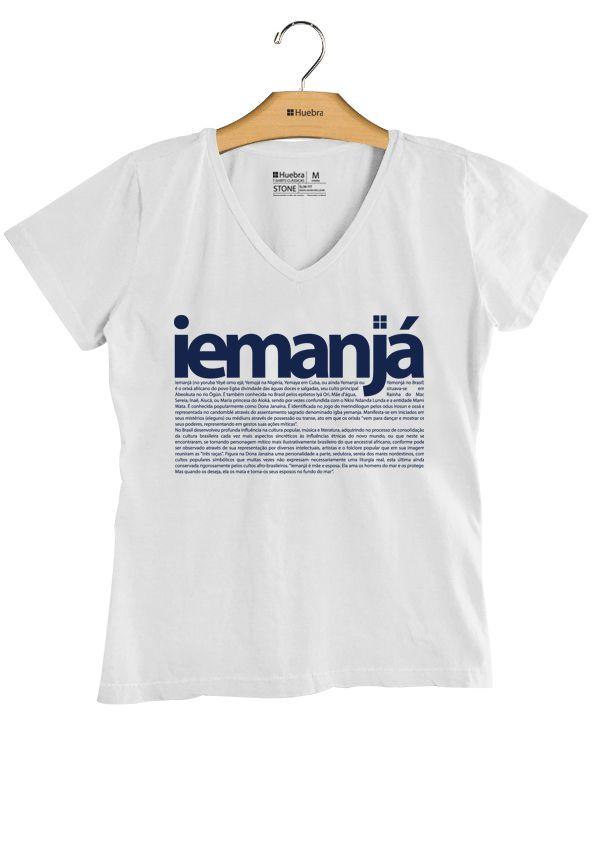 T-Shirt  feminina Gola V Iemanjá