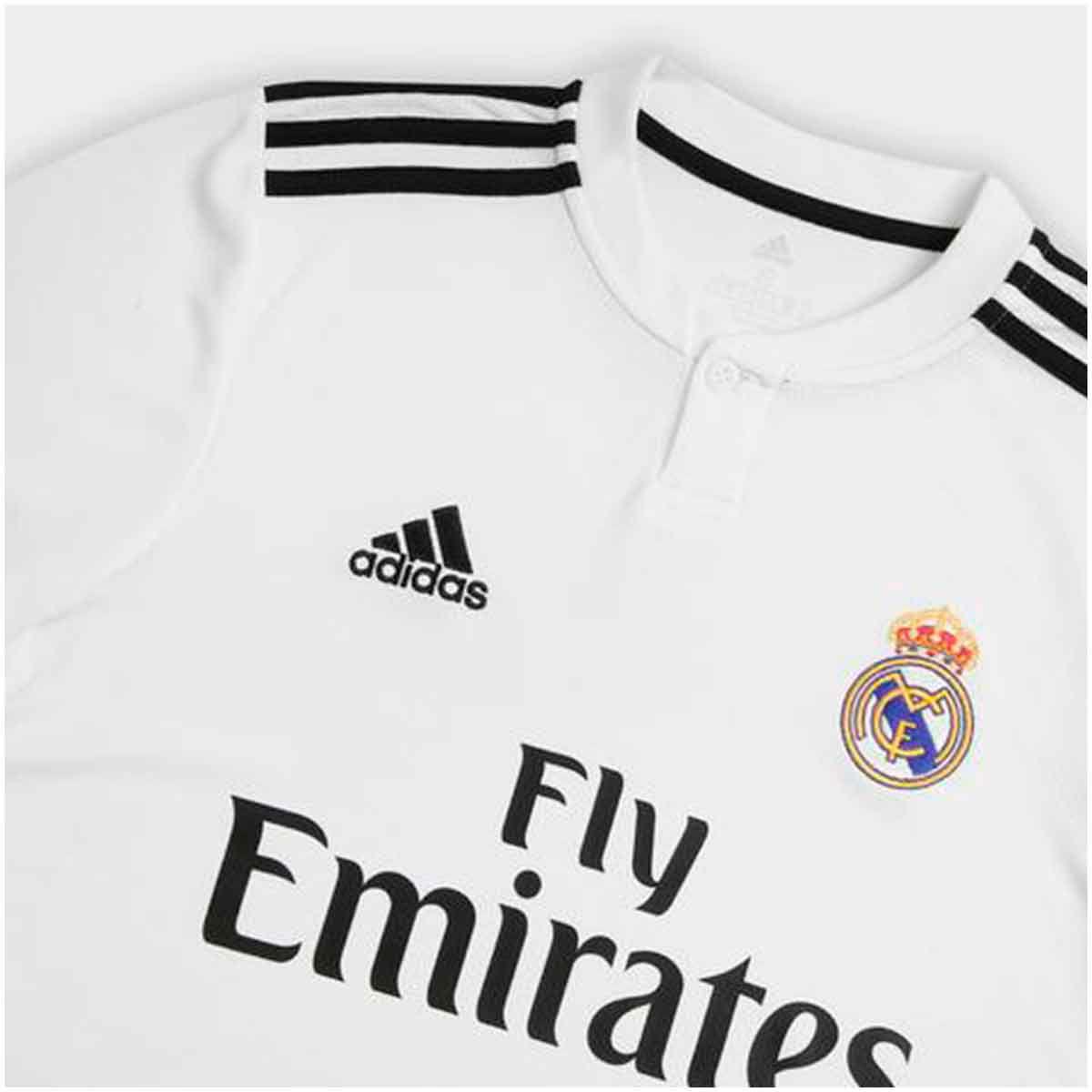 a5df1480d Camisa Real Madrid Home Adidas 2018 Infantil