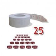 25 Bobinas para dispensador