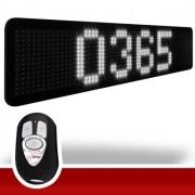Relógio LEDTime XL 1464 - Contador de Dias - 115x24 cm