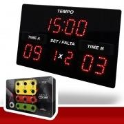 Kit Painel LEDTime Sports X3 - Poliesportivo - 42x25cm