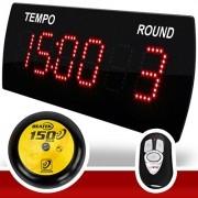 Painel LEDTime 625 - Relógio/Cronômetro Digital 38x14 cm + Gongo