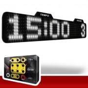Painel LEDTime XL 764 - Relógio/Cronômetro Digital - 90x15 cm com Controle G13