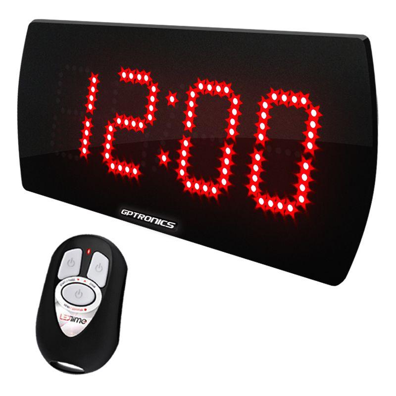 00b97d101bb Painel LEDTime 25 - Relógio Cronômetro Digital - 28x14 cm - GPTRONICS