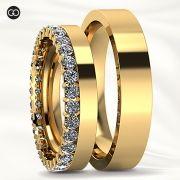 Aliança de Casamento Kali Ouro Branco