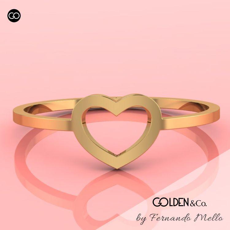 Anel em Ouro 18k - Golden Hearts + Precioso
