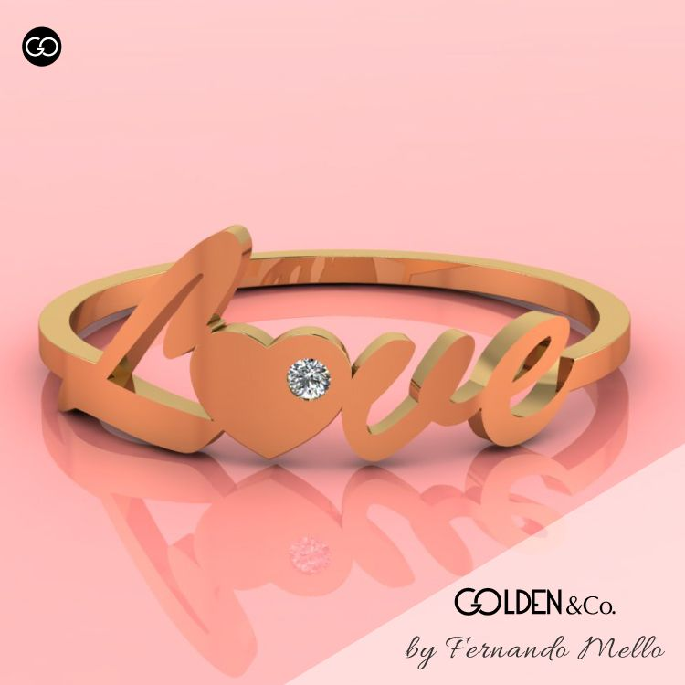 Anel em Ouro 18k - Golden Hearts + Romântico