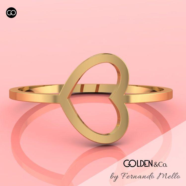 Anel em Ouro 18k - Golden Hearts + Sortudo