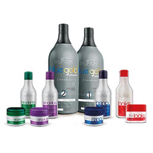 Combo Premium: 01 Kit Blue Gold Premium 1 Litro + Kits Clientes: Angelux, Nano, Bioplants e Looks (01 unid cada)