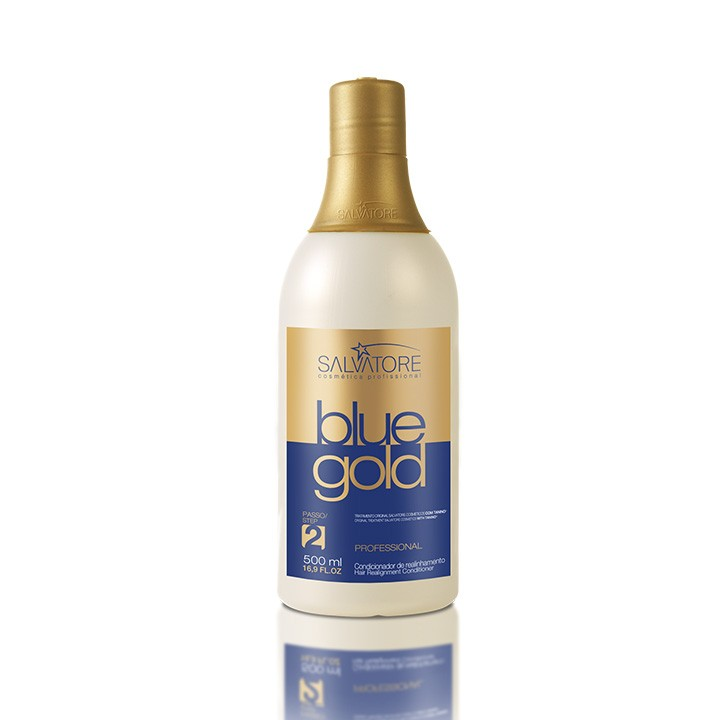 Creme Condicionante Blue Gold 500 Ml - Realinhamento Capilar - Taninoplastia