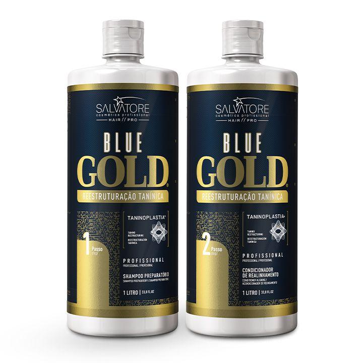 Kit Blue Gold 1L + Kit Blue Gold 500ml