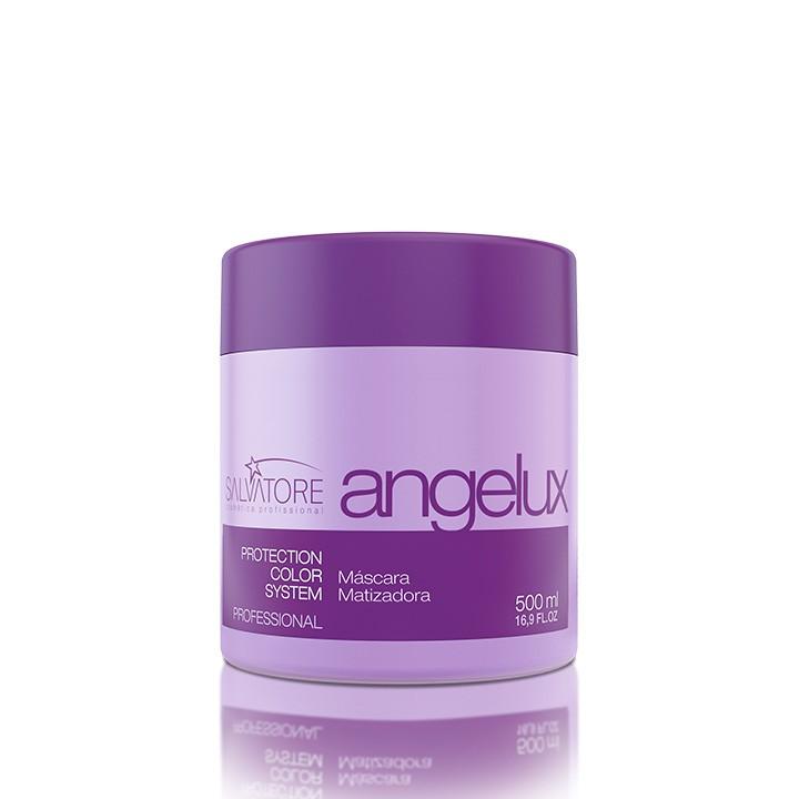 Máscara Angelux Profissional 500Ml - Tratamento Diário Para Cabelos Loiros