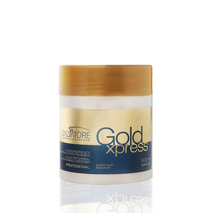 Máscara Gold Xpress Profissional 500 Ml - Reconstrução Capilar Instantânea Para Salão