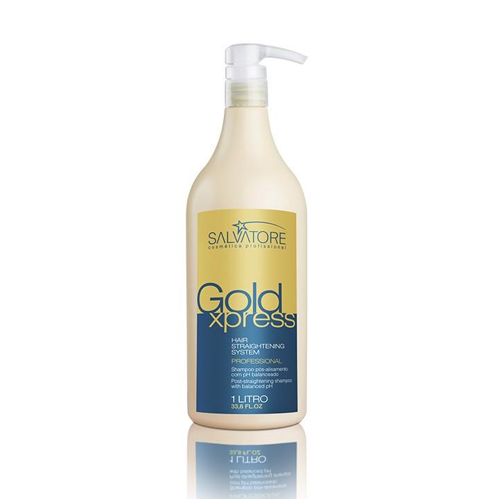 Shampoo Gold Xpress Profissional 1 Litro - Shampoo de Tratamento Capilar Para Salão