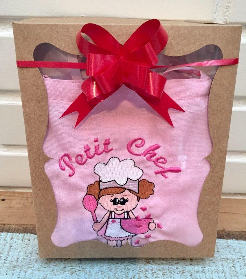 Kit Mini Chef - menina (avental rosa)