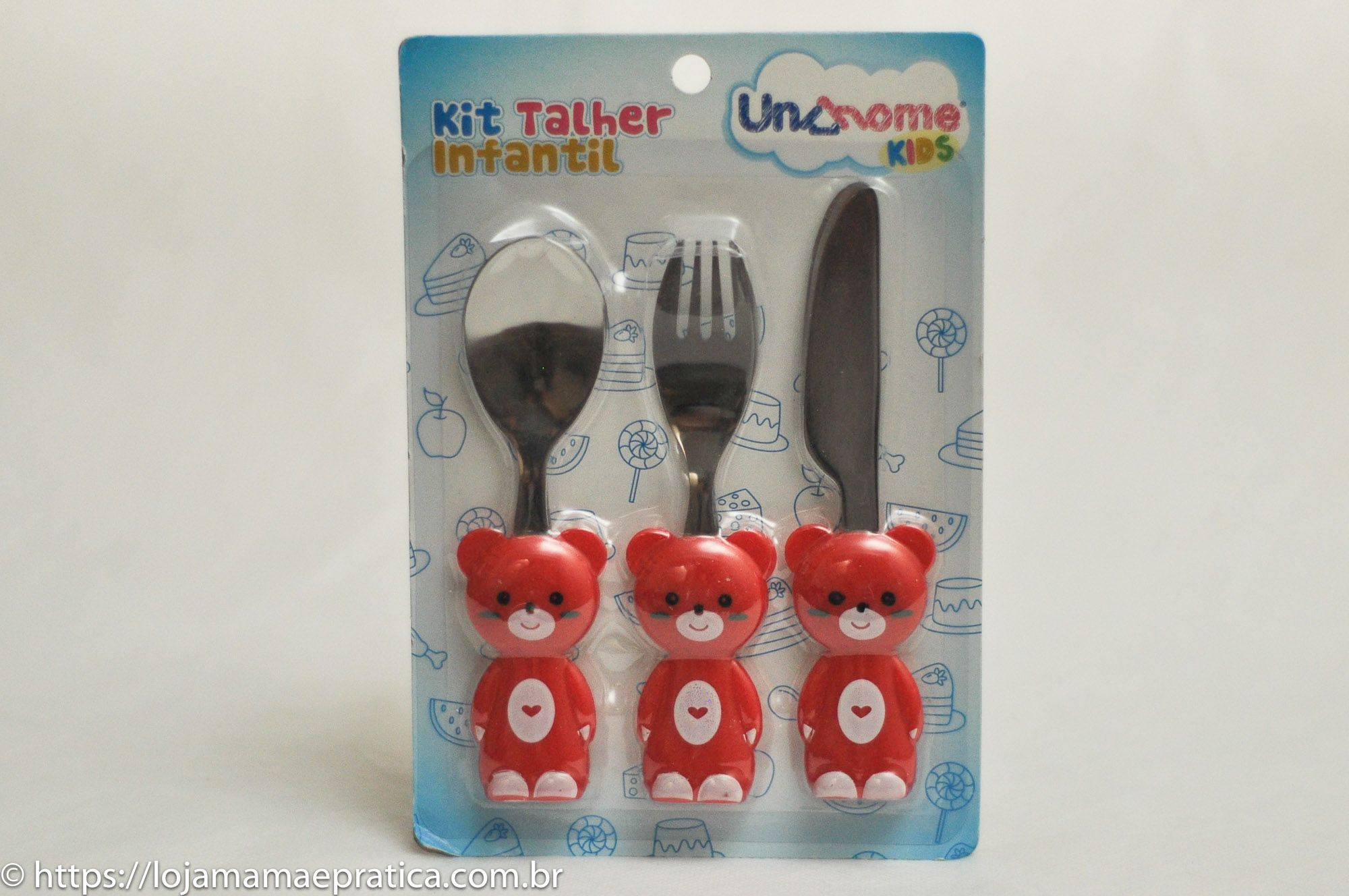 Kit talher infantil - ursinho