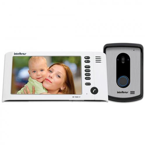 Video Porteiro Lcd 7 Polegadas Viva Voz IV 7010 HF Intelbras