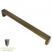Puxador Para Móveis, Armários e Cozinhas Modelo Line 128 mm em Aço Inox Antique Ouro Velho